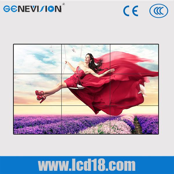 55 Inch 3.5mm bezel flexible digital signage advertising , 800cd / m2 led video wall HDMI