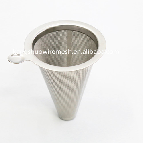 Reusable Stainless steel Coffee filter Ultra fine coffee filter hopper metal wire mesh coffee filter