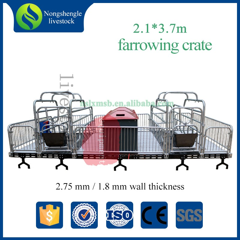 Pig farm animal high grade stainless steel stall farrowing pig crates