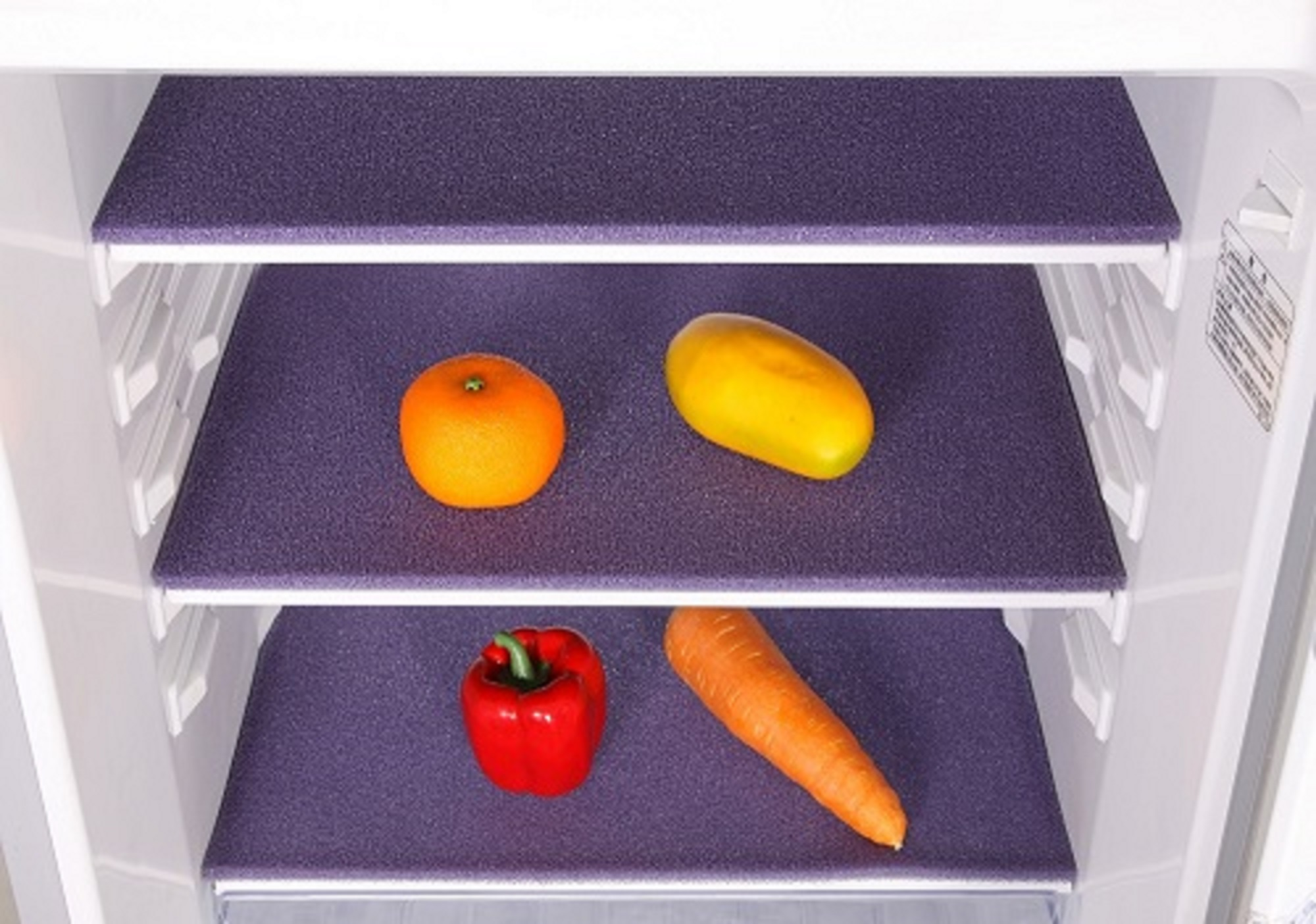 Elfin 18.5x11.8 Inches Silicone Washable Durable Anti-mould Fruit Life Extender Shelf Liner(Purple)