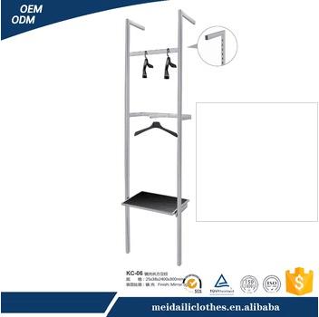 Steel material flooring display clothes hanging rack