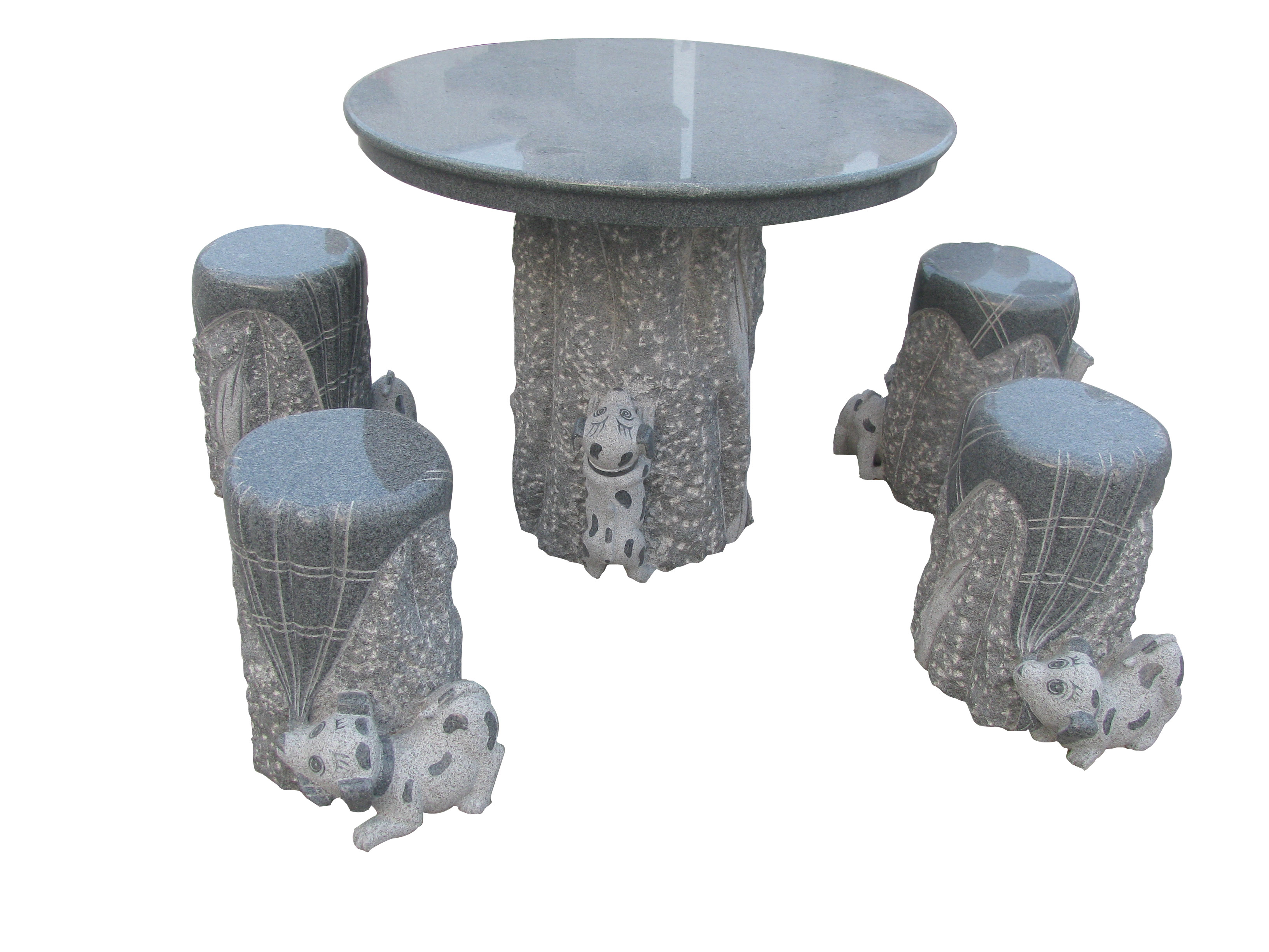 Stone Table and Stone Chairs