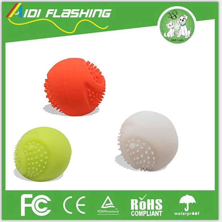Led Flashing Dog Toy Ball Silicone Dog Playing Ball Pet Ball