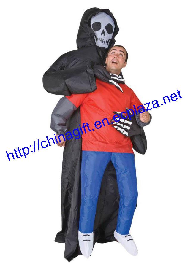 Skull Inflatable Illusion Costume