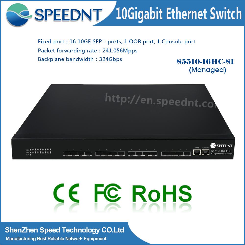 Speednt new original 10Gigabit network switch 16 port 10g fiber switch
