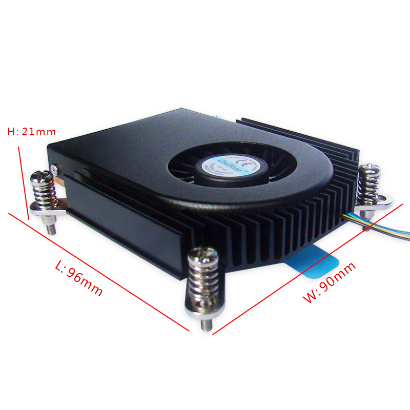 Intel LGA 2011/1155/1356 Ultra-thin one machine OPS-CPU computer aluminum extrusion heat sink