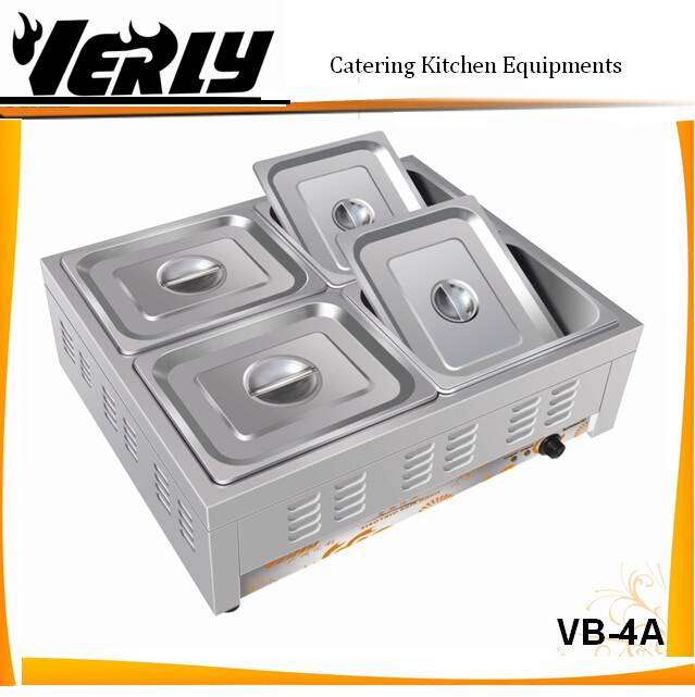 CE certificate Catering Kitchen equipment/ 4basins/ 4 pans electric ...
