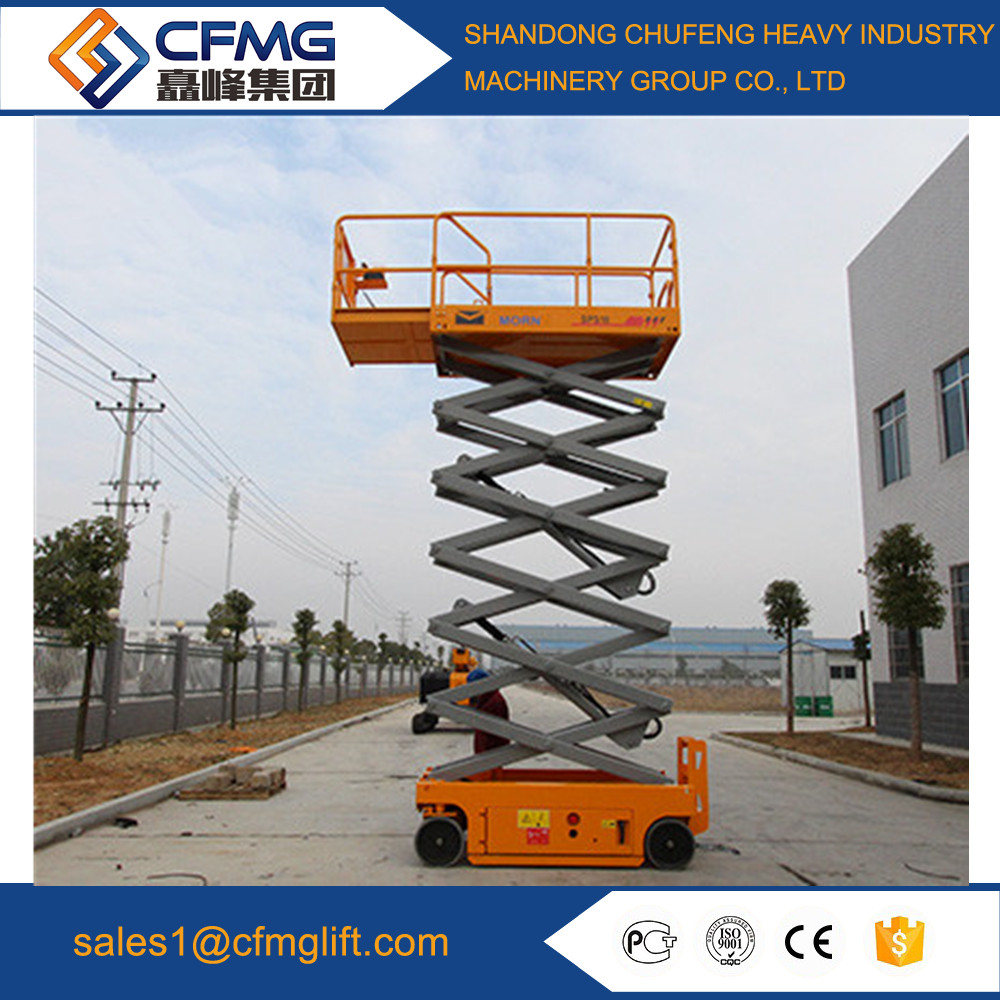 Mobile Manual Hydraulic Scissor Lift Table electric drive industrial self-propelled mobile elevated