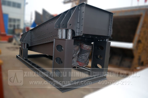 Mining Vibrating Feeder in Mining Production Line