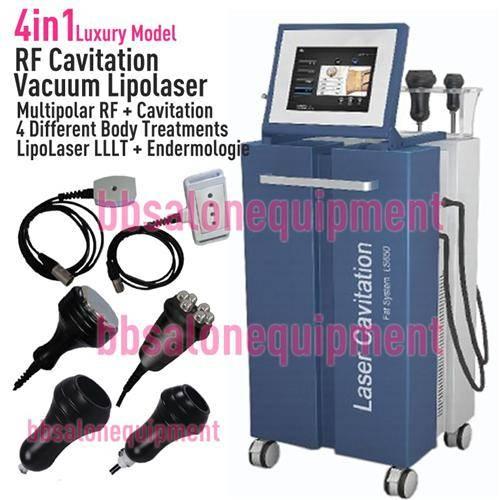 4in1 Lipo Laser LLLT Vacuum Endermologie Miltipolar Radio Frequency Ultrasonic Cavitation Non-Surgic