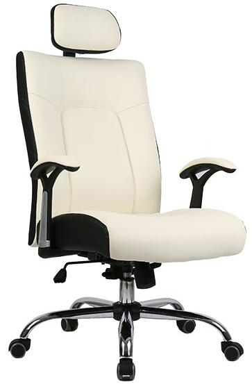 M&C the best Ivory color high back korean office chair with soft cushion