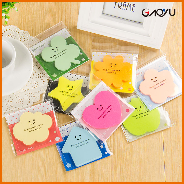 Creative lovely colorful shaped custom wholesale sticky note gadget for windows