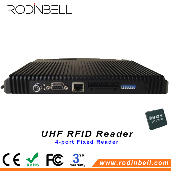 Factory Original 4 Channel Antenna Long Range Reading Distance Fixed UHF RFID Reader