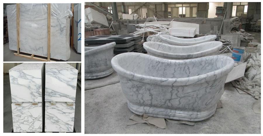 Carrara White Marble Bathtub,Bathroom Whirlpools,Bath Tub