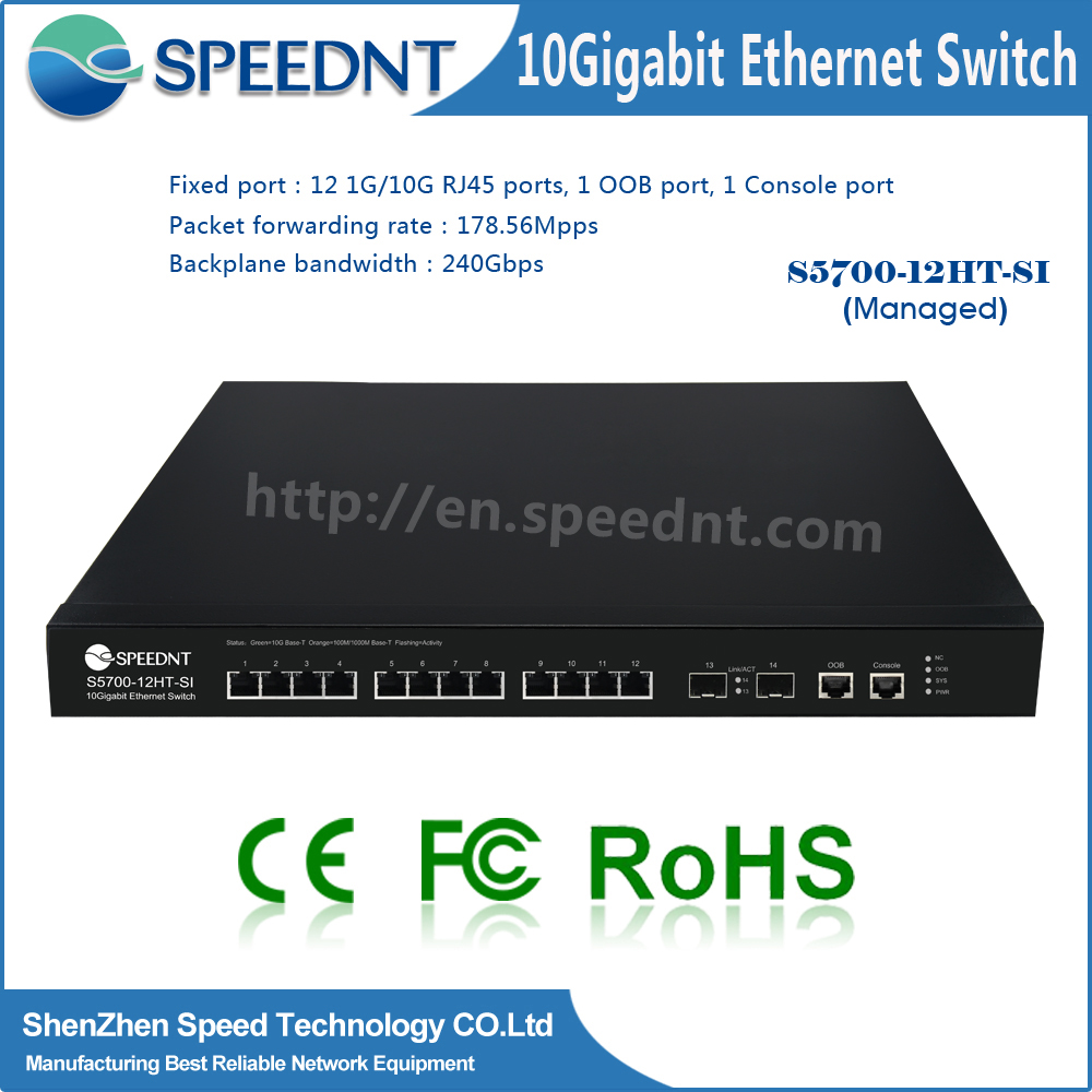 OEM/ODM service factory price 10gb copper switch layer 2 router switch with 12 sfp ports and 8