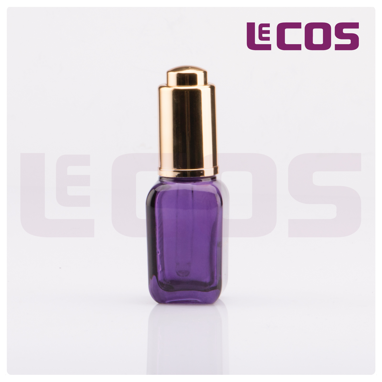 15ml Square Oil Glass Bottle with Pump Dropper