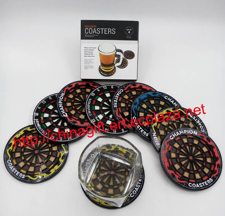 Bullseye Dartboard Coasters