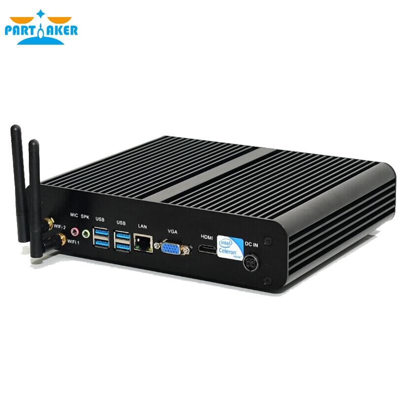 Fanless Celeron Dual Core G1840 2M Cache 2.80 GHz H87 Chipset Fanless Mini PC