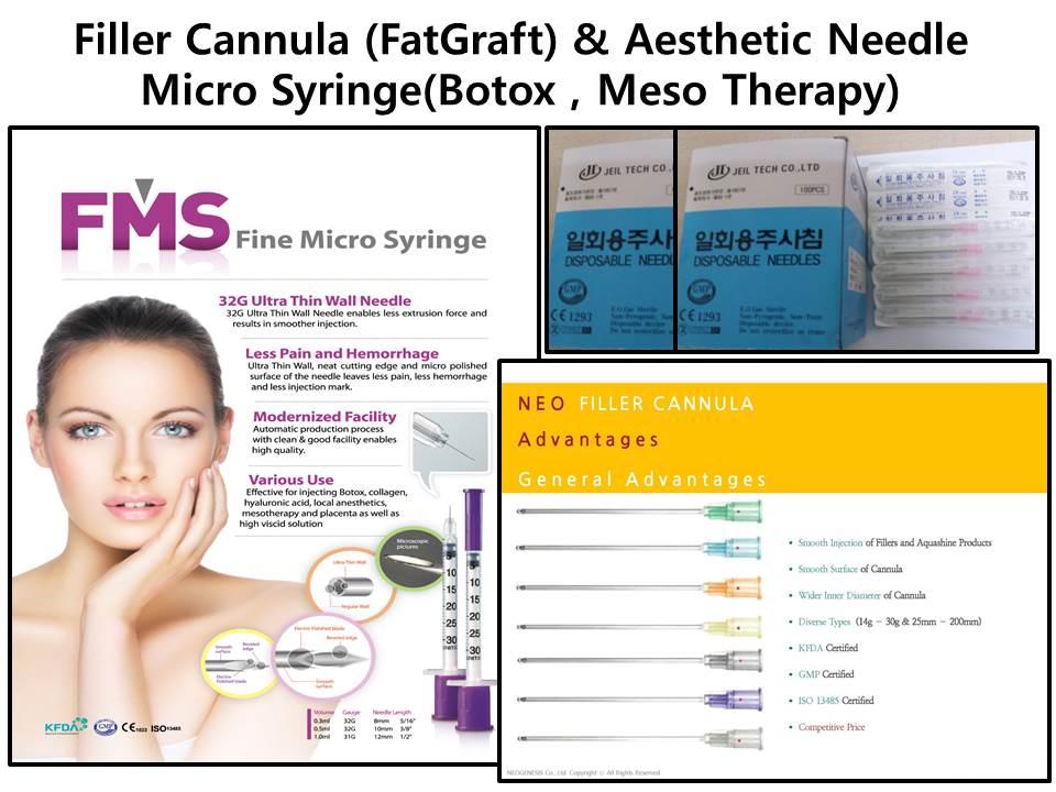 Dermatology : Filler Cannula (Fat-Graft),Micro-Syringe( Boxtox,MESO), Aesthetic-Needle