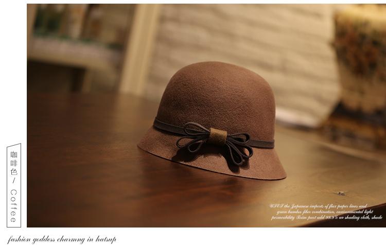 classic style lady wool felt bowler hats