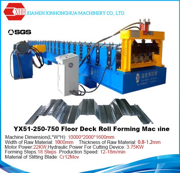 Floor Deck Metal Decking Roll Forming Machine for PEB Light Steel Frame Building from Chinese Machin