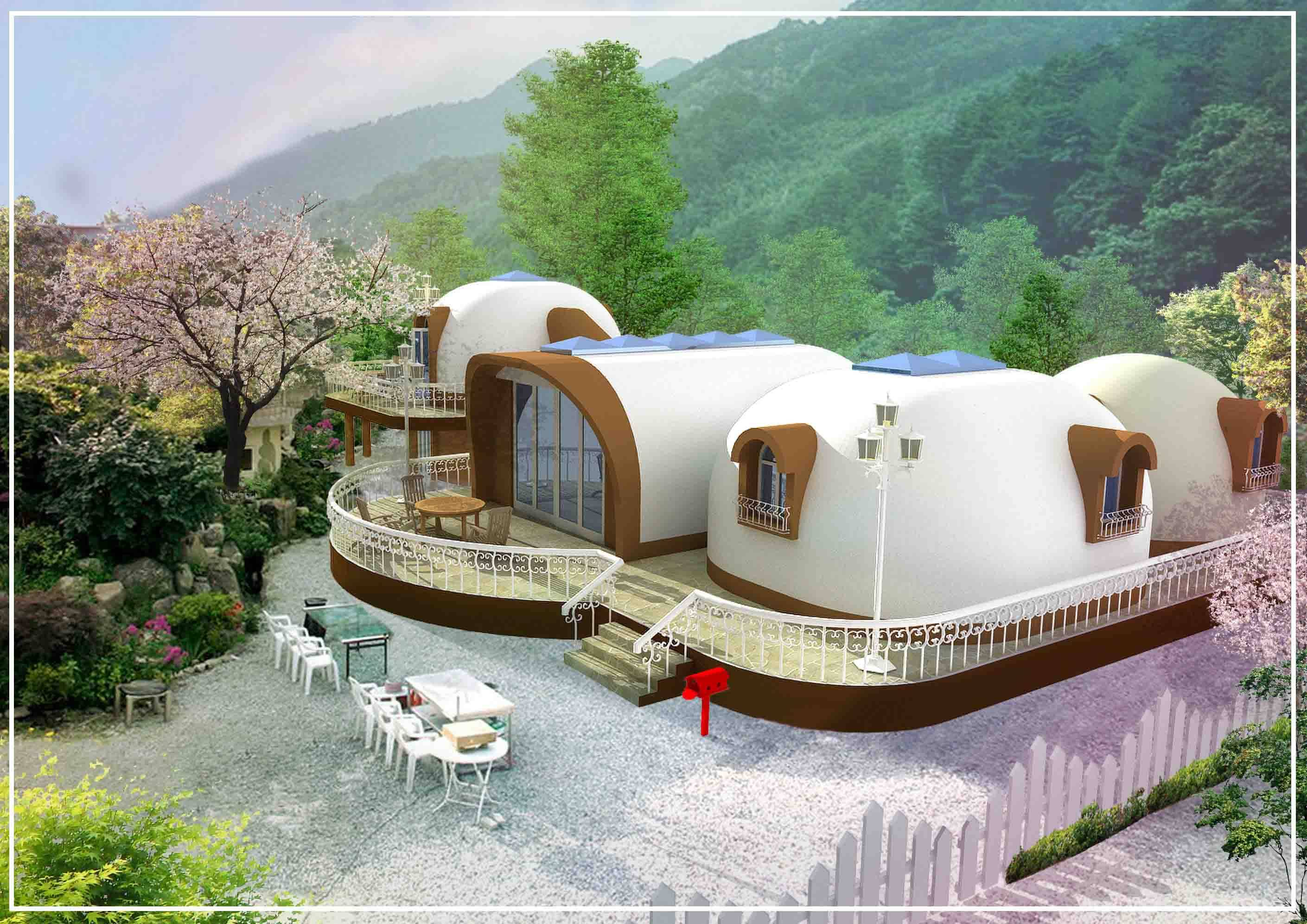 Styrofoam Dome world dome house - worlddome co ltd