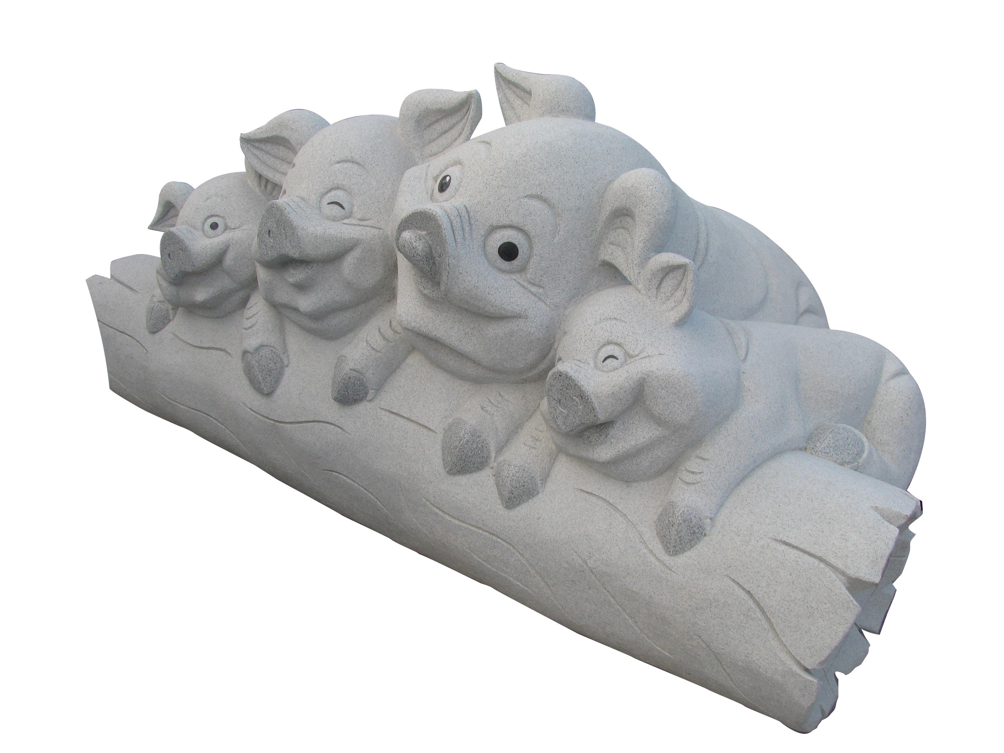 Happy Pigs Sculpture