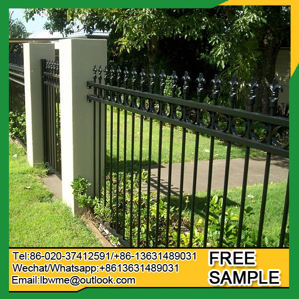 America standard front yard wrought iron fence panel