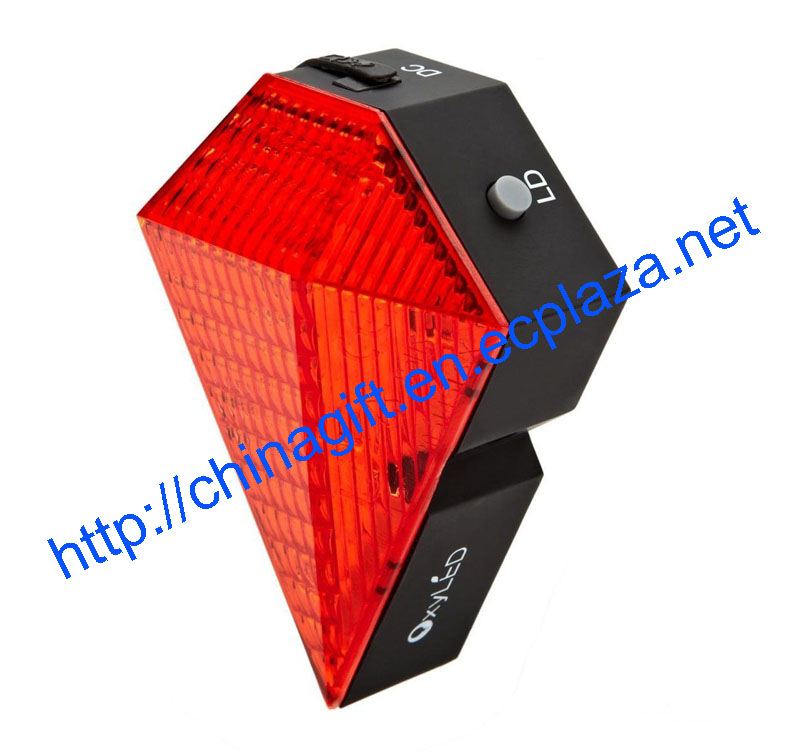 Diamond Bike Cycling Led Laser Safety Zone Tail Light