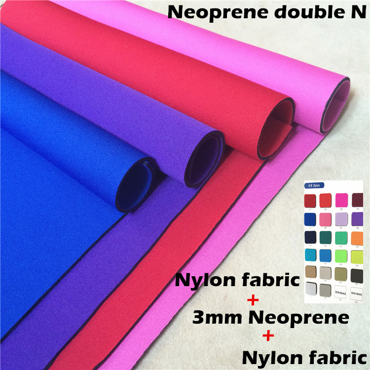 NEOPRENE FABRIC NYLON double sides laminated nylon fabric N cloth for Diving surfing fishing suit