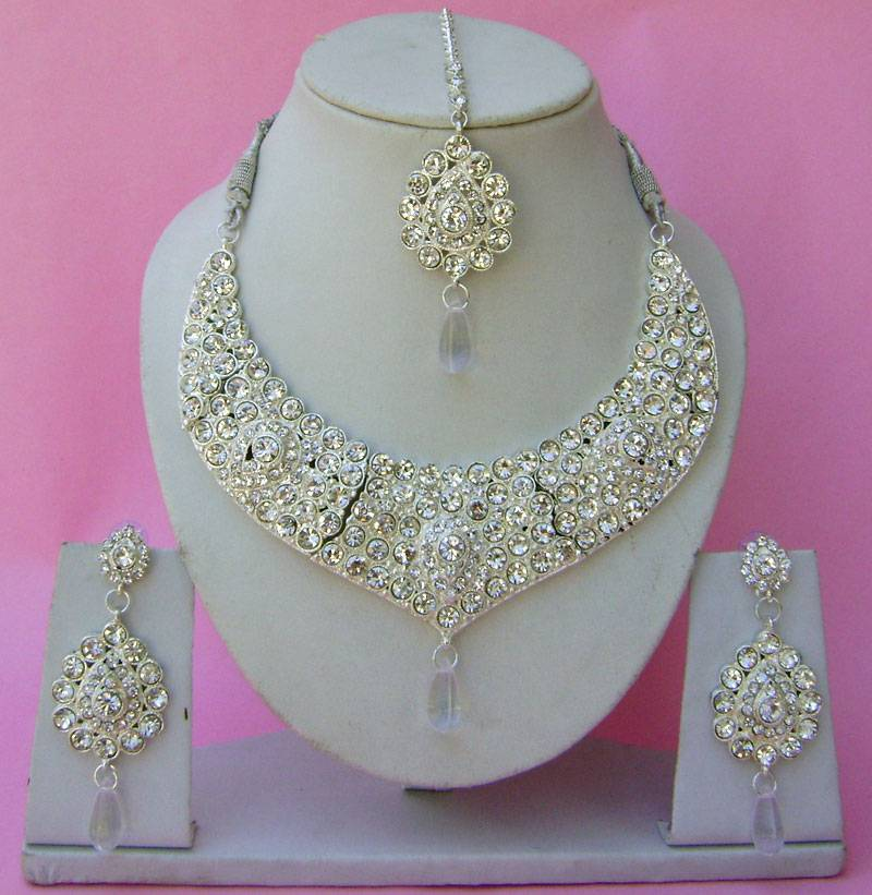 Beautiful Hand Crafted Bollywood Indian Wedding Jewellery Necklace ...