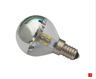 G45 LED E17 silver Bowl Bulb