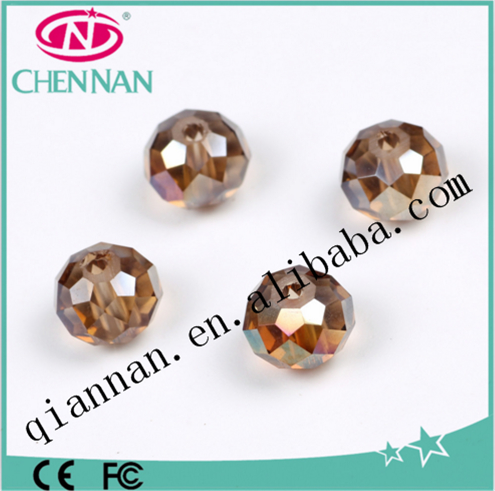 yiwu wholesale accessory connection jewelry plating rondelle beads for bracelet