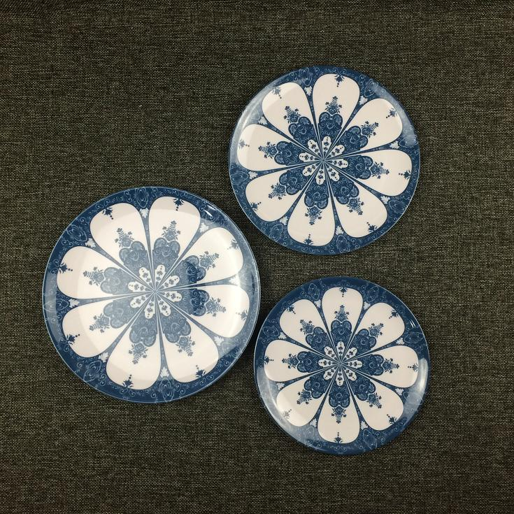 8/9/10 inch classic pattern melamine plate