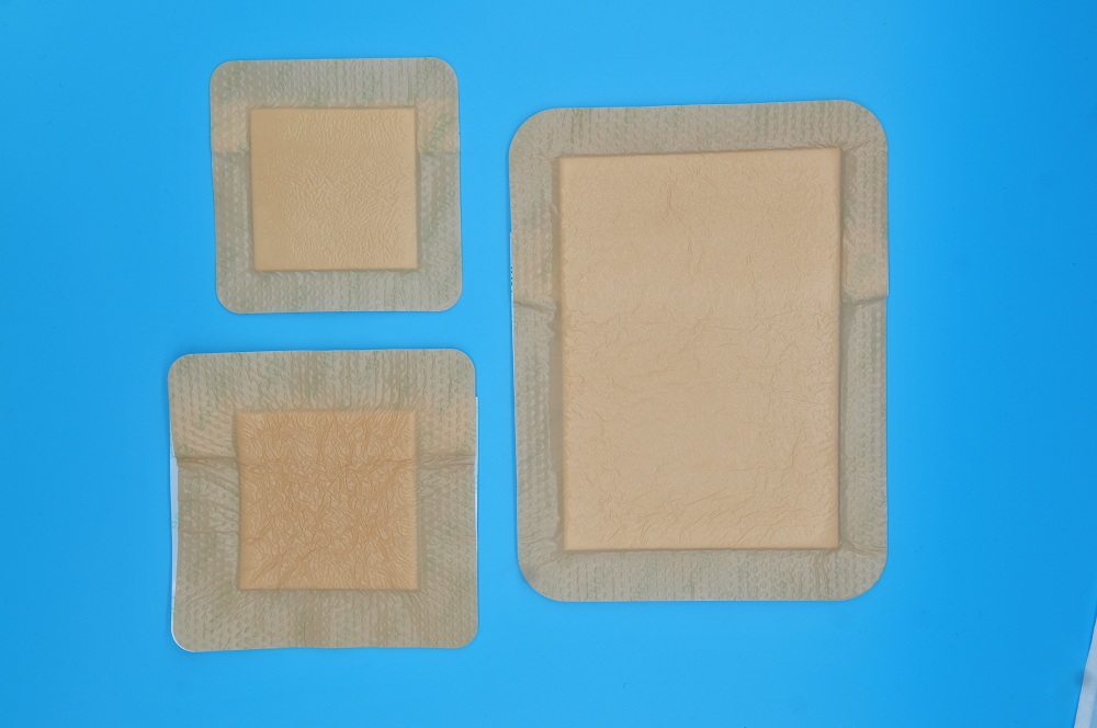 high absorbency medical island silicone wound dressing