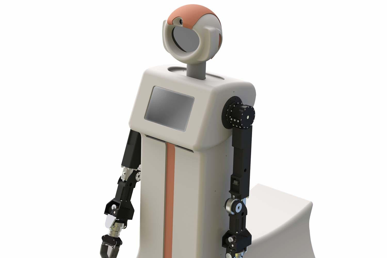 Nursing robot shell processing,robot part manufacturing