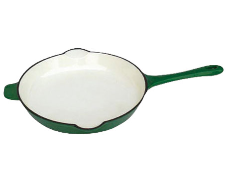 Square as seen on tv ceramic iron fry pan, cheap die cast double fry pan