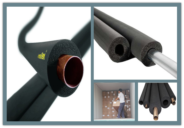NBR close cell rubber plastic foam insulation, heat insulation rubber plastic foam