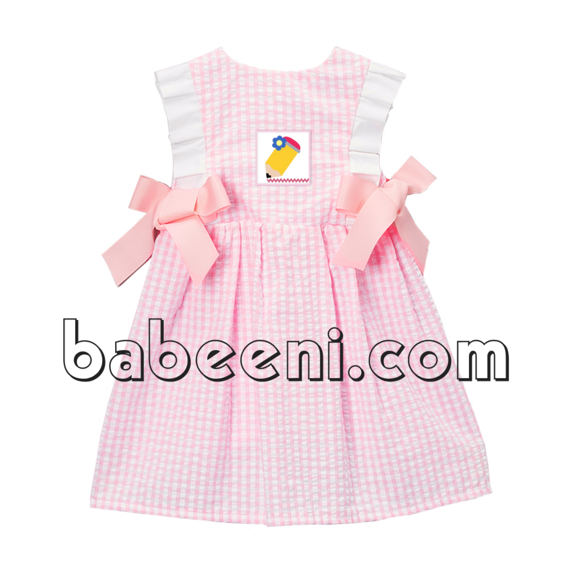 Lovely pencil smocked dress for back to school - DR 2506