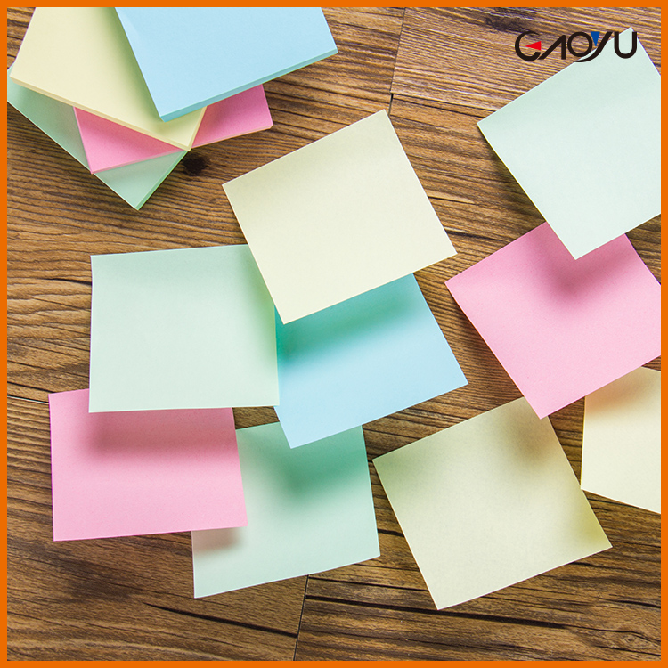 Customized Promotion self-adhesive Full Colors Shaped desktop sticky notes