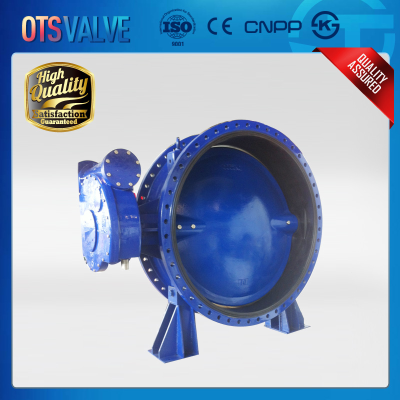 Big size flange type butterfly valve