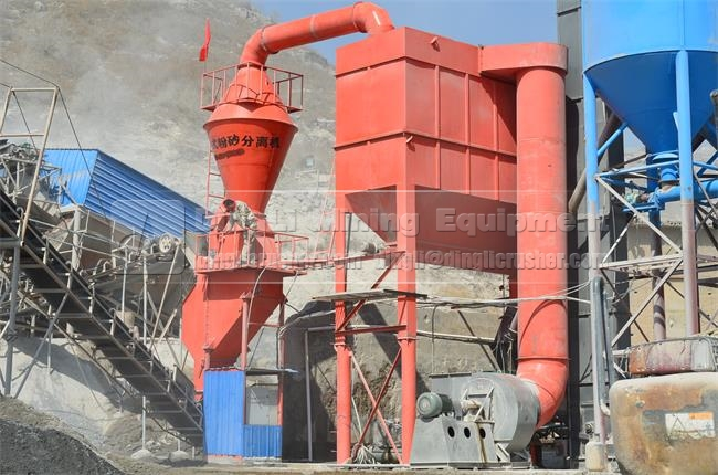 China Professional Sand Separator Price in Crushing Plant