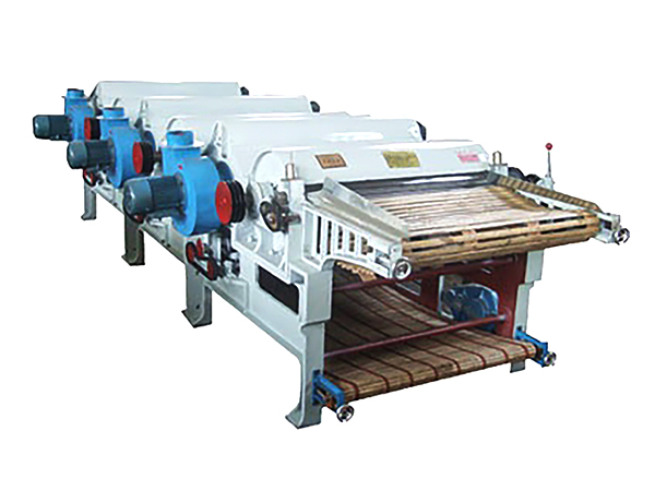 GM400 textile waste recycling machine with three rollers