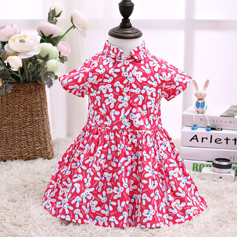 2017 Hot Selling Cut Kids Clothes Red Children Dress Kids LSCG1713R