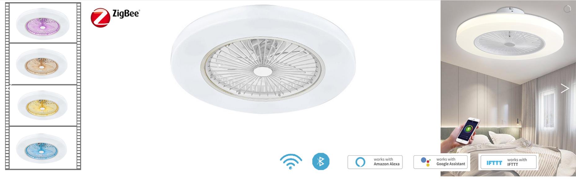 smart led fan light