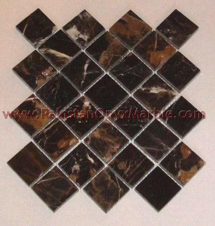 BLACK AND GOLD ( MICAHEL ANGELO ) MOSAIC TILES