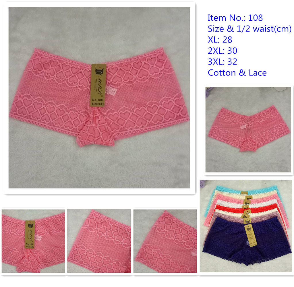 China Newly Style panties with transparent lace for women and girls 108
