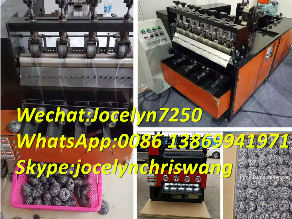 Stainless steel 410/430 scourer ball making machine from manufacturers