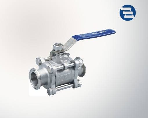 Sanitary Stainless Steel Non Retention Tri-Clamp End Three Pieces Ball Valve