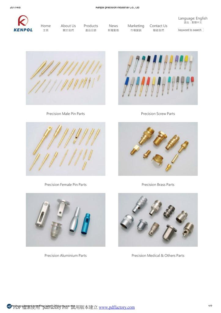 Parts for transportation,broadband, telecommunications, instrumentation and aerospace electroni